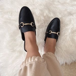 Faux Leather Mules
